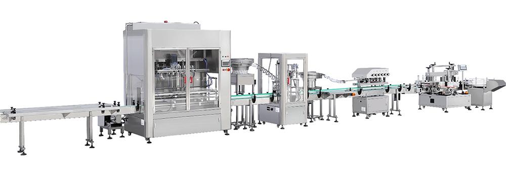 Máy đóng gói dầu gội dạng chai:  Với dây chuyền tự động, ta có thể cài đặt để sản xuất các sản phẩm khác nhau mà đặc tính thì lại tương tự: sữa tắm, nước súc miệng, nước rửa chén,....  Sơ lược về cách thức hoạt động của máy đóng gói:  Chúng tôi có thể đáp ứng được nhu cầu sản xuất, dây chuyền sản xuất,... theo yêu cầu của khách hàng để cho loại máy phù hợp nhất như tốc độ máy, loại máy gì, công suất ra sao, kích thước lớn nhỏ ra sao,....  Ở thiết kế lần này, máy đóng gói có dây chuyền sản xuất với sáu vòi chiết rót sản phẩm vào chai và bên cạnh đó có một số máy đi kèm như:  Máy đóng gói nắp bằng khí nén Máy đóng gói nắp tuyến tính Máy dán nhãn chai hai mặt cho sản phẩm Băng tải chuyền chai đến máy đóng gói Các tham số kỹ thuật máy đóng gói dầu gội dạng chai: Số lượng đầu chiết rót  6   Công suất chiết rót  0,5L-5L   Điền vào biểu mẫu  Tự chảy nhiều đầu vào đáy chai và cạnh bên nhanh và chậm   Tốc độ làm đầy  6-8 chai / phút (chai 4L)   Điền chính xác  ± 1%   Vật chất  Khung chiết rót được làm bằng thép không gỉ 304 #   Kiểm soát chương trình  PLC + màn hình cảm ứng   Làm đầy các bộ phận chất lỏng tiếp xúc miệng và máng  Thép không gỉ 316 #, silica gel, POM   Áp suất không khí  0,6-0,8MPa   Băng chuyền  Dây đai xích POM rộng 114mm, tốc độ 0-15 m / phút, chiều cao cách mặt đất 750mm ± 25mm   Vận chuyển động cơ  Động cơ điều chỉnh tốc độ tần số biến đổi 750W   Quyền lực  Khoảng 2,2KW / 380V ba pha năm dây   Công suất máng chính  200 lít (có nút chuyển mức chất lỏng, ống cấp vào đáy, nắp máng cần chống trào bọt ).   Lối vào băng tải với bàn đặt chai hai bên  2000X300mm (chiều dài X chiều rộng)