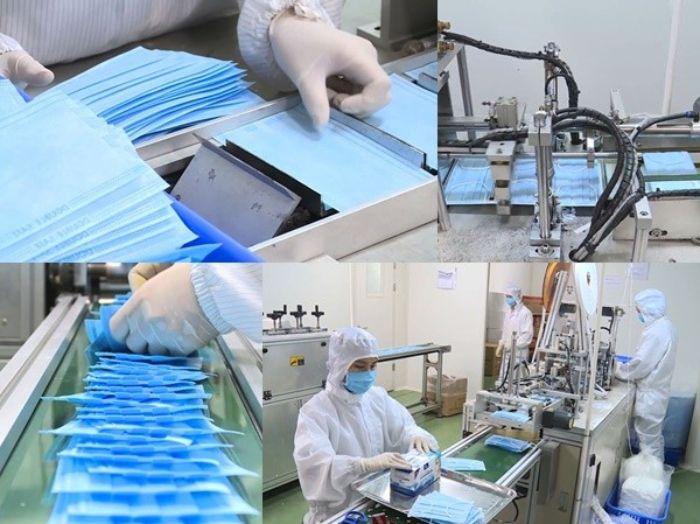 Quy trình sản xuất, đóng gói khẩu trang khép kín