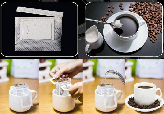 """Máy đóng gói cà phê phin giấy được sản xuất bởi các doanh nghiệp cà phê hòa tan. Thay vì cà phê dùng để hòa tan thì nó được bỏ trong túi lọc để pha luôn mà không cần bỏ ra ngoài rất tiện lợi và hợp vệ sinh  Hiện nay trên thị trường, cafe hòa tan không thể đáp ứng được nhu cầu của khách hàng, đặc biệt là những khách hàng thích không thích uống cà phê pha sẵn. Bởi vậy, cafe phin giấy mang đi đang dần trở thành xu hướng ở những thành phố công nghiệp.  Với cafe phin giấy, gọn nhẹ, tiện lợi và có thể mang đi bất cứ đâu đã phần nào giúp những người """"sành cafe"""", thích sự nguyên vẹn, đậm vị cảm thấy hài lòng. Cafe bột nguyên chất nếu được đóng sẵn vào túi giấy lọc có tai để treo vào cốc sau đó rót nước sôi vào và chờ 1 lúc là đã có ngay tách cafe nguyên chất thơm ngon vô cùng tiện lợi. Tuỳ theo sở thích sau đó chỉ việc thêm đường hoặc sữa vào ly cafe.  Doanh nghiệp sản xuất sản phẩm này cần sử dụng máy đóng gói cà phê túi lọc 5 in 1 để tiết kiệm thời gian, chi phí nhưng vẫn cho ra được thành phẩm chất lượng. Ngành cà phê đang ngày càng phát triển đa dạng với nhiều chủng loại: cà phê hòa tan, cà phê bột, cà phê túi lọc,... Trong đó, cà phê túi lọc đang dần được nhiều người ưa chuộng bởi sự tiện lợi của nó  Máy đóng gói cà phê phin giấy 5 in 1 là gì?  """"5 in 1"""" là cụm từ để diễn tả khả năng tích hợp 5 tính năng trong 1 chiếc máy đóng gói. Cụ thể là thiết bị này có thể: chiết rót, tạo túi giấy, xâu chỉ, dán tem và đóng bao ngoài cho gói cà phê phin giấy của bạn. Thiết bị sẽ giúp đẩy nhanh tiến độ sản xuất cà phê phin giấy. Bên cạnh đó vẫn đảm bảo thành phẩm cho ra được đóng gói đẹp mắt, chắc chắn, và giữ nguyên hương vị cà phê vốn có.  Đa năng – tiện lợi – tiết kiệm  Bởi vì sự đa năng trong việc tích hợp 5 tính năng đã tạo nên quy trình hoàn toàn khép kín. Điều này đã giúp cho doanh nghiệp rút ngắn tối ưu thời gian sản xuất cũng như giảm thiểu hàng lỗi, sản phẩm bị thất thoát.  Từ thiết bị này hàng loạt túi lọc cà phê sẽ được cho ra đời có tính đồng đều về kích thước, mẫu mã, c"""