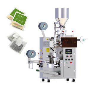 Máy đóng gói trà túi lọc 3 trong 1 dạng nhỏ: Máy đóng gói có thể đóng gói trà xanh, trà đen, trà hoa cúc, trà hoa hồng, trà sức khỏe, nhiều kích thước và hình dạng khác nhau ... Và các quá trình tạo túi đo, chiết rót, niêm phong, cắt, đếm và ép nóng mã có thể được thực hiện tự động. Với thiết kế thông min nên máy có thể chỉ cần 1 nút điều khiển là có thể lập trình xong các bước Túi trà thường được làm bằng giấy lọc hoặc nhựa thực phẩm, hoặc đôi khi bằng lụa. Vật liệu đóng gói: Giấy lọc, chỉ, màng phức hợp Thông số kỹ thuật về thiết bị: Với thiết được sau khi bạn sử dụng bị hư hỏng và trong thời gian máy còn bảo hành, chúng tôi sẽ thay thế cho bạn miễn phí. Khả năng tiêu thụ điện năng ít nên các cơ sở không cần quá lo về vấn đề quá hao tổn trong quá trình vận hành máy. Thành phần cốt lõi: PLC, Động cơ, Vòng bi, Hộp số, Động cơ, Bình áp suất, Hộp số, Bơm Tình trạng: Mới Ứng dụng: Hóa chất, Hàng hóa, Thực phẩm, Máy móc & Phần cứng, Y tế Loại bao bì: Túi, Phim, Giấy bạc, Túi Vật liệu đóng gói: Giấy lọc, chỉ, màng phức hợp Lớp tự động: Tự động Loại điều khiển: Điện Điện áp: 220V 50Hz Sức mạnh: 3,35Kw, 220V, 50HZ, 3,35KW Trọng lượng: 700kg Kích thước (L * W * H): 1200 * 850 * 1900mm Chứng nhận: CE, ISO Dịch vụ sau bán hàng được cung cấp: Phụ tùng thay thế miễn phí Kích thước túi của túi bên trong: L: 50-60mm W: 30-80mm Kích thước túi của túi bên ngoài: L: 60-120mm W: 70-90mm Công suất: 20-40 túi / phút Phạm vi làm đầy: 2-12ml Kích thước: 1200 * 850 * 1900mm Bảo đảm: 5 năm Phạm vi đo lường: 1-15g Các tính năng hoạt động của máy đóng gói: Giấy niêm phong bên ngoài được điều khiển bởi động cơ bước, chiều dài túi ổn định và định vị chính xác. Giúp cho cơ sở tiết kiệm được nhiều chi phí khi không bị tạo ra túi trống, gây lãng phí Máy có thể tự động hoàn thành tải, đo lường, tạo túi, niêm phong, cắt, đếm, băng tải thành phẩm và các chức năng khác. Tiết kiệm được chi phí thuê nhân công để vận hành máy Áp dụng niêm phong siêu âm nhập khẩu, sử dụng cân đo điện tử để cắt cổ phiếu, 