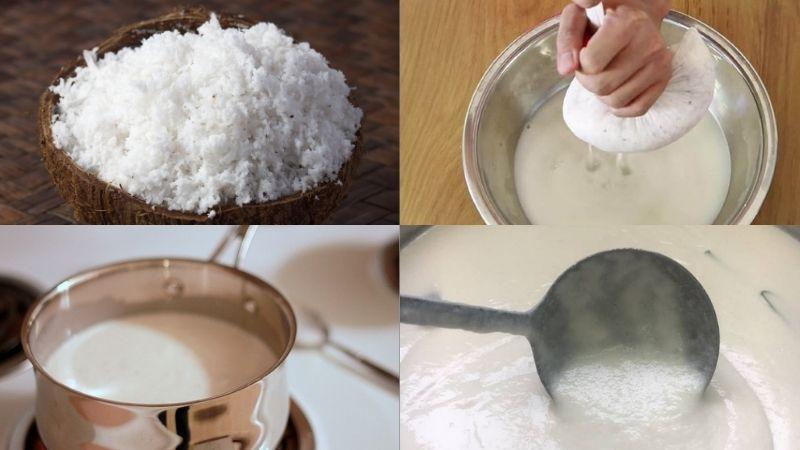 Cách làm sữa chua trân châu cốt dừa đúng vị Hạ Long: Làm sữa chua sao cho dẻo mịn: Bạn cho sữa tươi, sữa đặc vào chung một nồi, dùng vá khuấy đều cho các nguyên liệu hòa tan rồi đặt lên bếp, đun đến khi sữa bốc khói thì tắt bếp. Lưu ý: rằng không nấu sôi sữa quá lâu vì sẽ làm thất thoát chất dinh dưỡng. Tiếp theo, bạn để sữa hạ nhiệt độ xuống rồi sữa chua vào làm men cái, khuấy đều cho sữa chua tan hoàn toàn là được. Sữa chua làm men cái nên được bảo quản ở nhiệt độ phòng để hòa tan dễ dàng hơn. Cho hỗn hợp sữa chua đã chuẩn bị vào từng hũ thủy tinh nhỏ, đậy kín nắp rồi đặt vào trong thùng xốp đã chuẩn bị nước ấm khoảng 40 độ C, sao cho nước ấm ngập 2/3 hũ sữa chua là được. Cuối cùng, bạn đậy kín nắp thùng xốp và ủ sữa chua trong khoảng 6 – 8 tiếng là có thể sử dụng. Cách làm trân châu trắng khác với các trân châu khác: Bạn cho bột năng, bột rau câu và đường vào thau. Sau đó, bạn trộn đều bột năng, bột rau câu giòn và đường lại với nhau rồi đổ nước sôi vào, vừa đổ vừa dùng đũa khuấy đều để không bị vốn cục - không đều các nguyên liệu. Tiếp theo, bạn để một lát cho bột nguội rồi tiến hàng nhào cho bột dẻo mịn, dùng màng bọc thực phẩm bọc kín để bột nghỉ 20 phút. Sau khi để bột nghỉ và nguội, bạn nhào bột thành những sợi dài, nhỏ, kích thước bằng đầu đũa là được rồi ta dùng dao cắt bột thành từng viên nhỏ vừa ăn. Nếu bạn muốn ăn lớn thì có thể cắt viên bự hơn xíu Đun sôi nồi nước, cho tất cả các trân châu vào luộc trên lửa vừa trong khoảng 20 phút. Khi thấy trân châu chuyển sang màu trắng trong là chín. Sau đó, bạn tắt bếp, đậy kín nắm và tiếp tục ủ thêm 15 phút cho trân châu nở đều. Cuối cùng, bạn vớt trân châu ra xả qua nước lạnh nhiều lần rồi cho vào một cái tô nhỏ, thêm nước đường vào để tạo độ ngọt và giúp bảo quan trân châu dẻo dai, thơm ngon trong suốt 24 tiếng đồng hồ. Thành phẩm món sữa chua trân châu nước cốt dừa: Bạn cho ít đá bào vào 1 ly thủy tinh. Sau đó, bạn lần lượt cho 100 gram sữa chua, 60 gram trân châu trắng - bạn nhắm chừng lượng vừa ăn là ổn và r