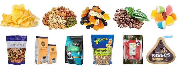 Sản phẩm dạng hạt có cấu tạo hơi cứng hơn so với các sản phẩm khác cho nên bao bì đóng gói cũng đa dạng không kém. Nó có thề là túi lớn đến túi nhỏ, màu sắc xanh - đỏ - tím - vàng,... rất thu hút khách hàng. Các sản phẩm dạng hạng được đóng gói thì đa dạng các mặt hàng khác nhau như gạo, hạt ngô, thức ăn thú cưng, phân bón, các loại bánh snack, các loại đậu khác nhau,.... Ta có thể đóng gói bằng tay nhưng nhìn chung các sản phẩm đó không tạo ra được sự đồng nhất, hư hao các nguyên vật nhiều là điều khó tránh, bao bì không tạo ra được sự chắc chắn vốn có của nó,... Máy đóng gói dạng hạt được đưa vào sản xuất giúp ta có thể xử lý các vấn đề trở nên đơn giản hơn. Việc đóng gói không còn quá khó khăn, mẫu mã ngày càng đa màu sắc thu hút khách hàng hơn, đồng thời nó cũng đồng đều hơn cho bao bì, nâng suất sản xuất luôn được ở mức cao nhất. Máy đóng gói và quá trình chúng hoạt động rất đa dạng về mặt hình thức. Nếu bạn đang quan tâm và muốn tìm hiểu nhiều hơn về các loại máy đó, hãy để Máy đóng gói An Thành chúng tôi giúp bạn nhé! Máy đóng gói dạng hạt bao bì lớn: Với cấu trúc máy có công suất đóng gói lớn, ta có thể sử dụng chúng vào các sản phẩm như thức ăn thú cưng, gia cầm , hạt phân bón, urê, hạt giống, gạo, đường, đậu, ngô, đậu phộng, lúa mì, PP, PE, nhựa hạt, hạnh nhân, các loại hạt, silica cát,... Thiết bị có đặc điểm hoạt động ra sao? 1. Dễ dàng cài đặt, tự động trọng lượng, tải, may và cắt chủ đề. Chỉ cần một người để thức ăn các túi. Các quá trình vận hafhn như thế ta có thể quan sát chúng trên màn hình cảm ứng thông minh. 2. Sử dụng cũng được biết đến thương hiệu quốc tế bộ phận chính, chẳng hạn như trọng lượng điều khiển, tải di động, khí nén yếu tố,.... 3. Chiều cao của máy may và băng tải có thể điều chỉnh sao cho thích hợp cho kích cỡ khác nhau của túi. 4. Các bộ phận trong cảm ứng với các nguyên vật liệu được làm bằng thép không gỉ và có tuổi thọ dài hơn. 5. Có cao độ chính xác điều khiển, sửa lỗi tự động, bên cạnh đó nó có thể tự động báo động cho trên v